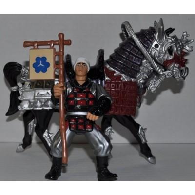 Vintage Movie III Samurai Evil War Horse with Castle Guard Action Figure (1993) - Playmates Mirage Studios - TMNT - Teenage Mutant Ninja Turtles Co...