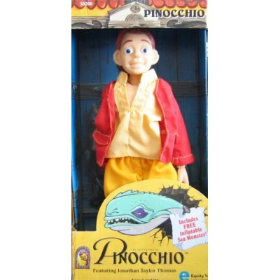 Adventures of PINOCCHIO Doll (Carlo Collodi) w Inflatable Sea Monster (1996 Equity Toys)