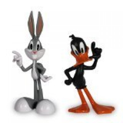 The Looney Tunes Show Figures, Bugs Bunny and Daffy Duck, 2-Pack