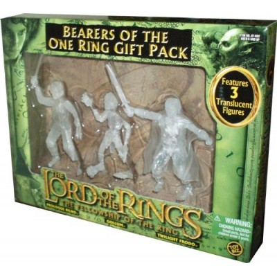 ToyBiz Year 2004 The Lord of the Rings Movie Series The Fellowship of the Ring Gift Pack - Bearers of the One Ring with 3 Translucent 4-1/2 Tall Ac...