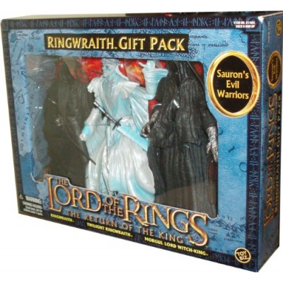 ToyBiz Year 2004 The Lord of the Rings Movie Series The Return of the King 3 Pack Set - RINGWRAITH Gift Pack with 3 Sauron's Evil Warriors - Ringwr...