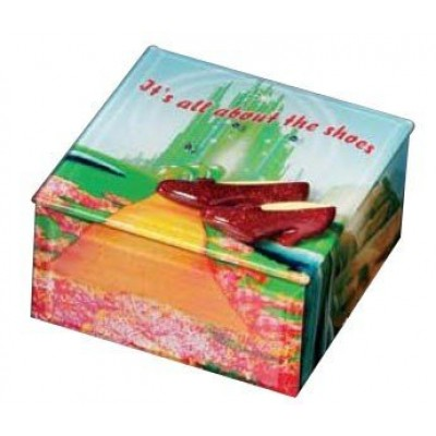 Wizard Of Oz Dorothy It's All About The Shoes Ruby Slippers Glass Music Box
