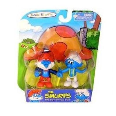 """Jakks Pacific - The Smurfs 2"""" Figure Pack - PAPA SMURF & TAILOR SMURF"""