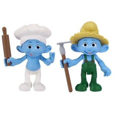 Smurfs Movie Basic Figure Pack Wave #2 Farmer Smurf And Baker Smurf