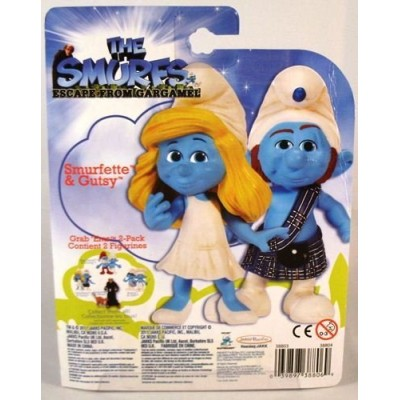 The Smurfs Movie Grab Ems Exclusive Mini Figure 2Pack Smurfette Gutsy