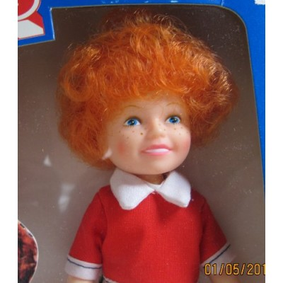 "Little Orphan ANNIE DOLL 6"" Tall - The World of Annie (1982 Knickerbocker)"