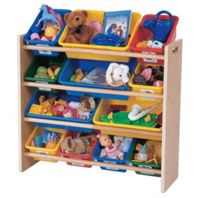 Tot Tutors Toy Organizer, Primary Colors