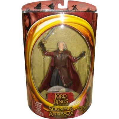 Lord of the Rings Trilogy Two Towers Action Figure Series 2 King Theoden with SwordSlashing Action
