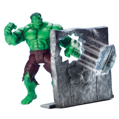 "Punching Hulk with Wall Punching Action 6.5"" Figure by Toy Biz"