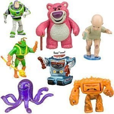 Toy Story 3 Exclusive Villains 7Pack Figurine Playset Buzz Lightyear, LotsOHuggin Bear, Big Baby, Twitch, Chunk, Stretch and Sparks