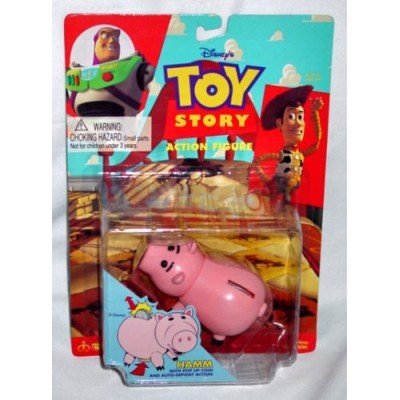 Vintage 1995 Toy Story Hamm Piggy Bank Style Action Figure