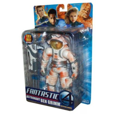 Marvel Fantastic 4 Deluxe Class 8 Inch Tall Action Figure - Astronaut BEN GRIMM with Burnt Astronaut Suit, Face Change Feature, Space Cannon and 3 ...