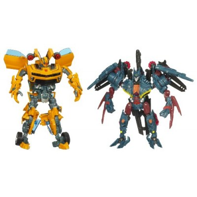 Transformers Movie 2 Nest Battle Pack Cannon Bumblebee and Soundwave