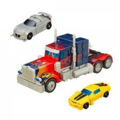 Transformers Movie Leader Optimus Prime with Legends Bumblebee and Jazz Exclusive