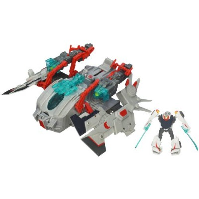 Transformers Prime Cyberverse Command Your World Star Hammer Vehicle with Wheeljack Figure 3 Inches