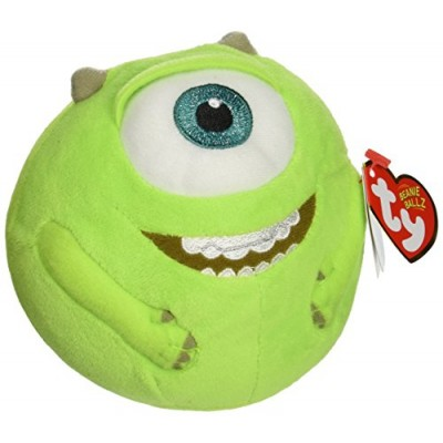 Ty Beanie Ballz Mike Green Eyeball Plush