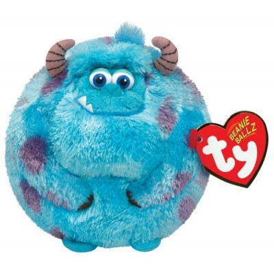 Ty Beanie Ballz Sulley Blue Monster Plush