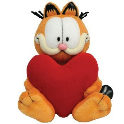 Garfield Garfield holding heart