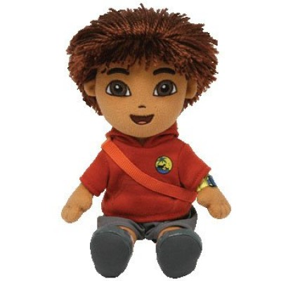 TY Beanie Babies Go Diego Go - Diego Animal Rescue (Red top)