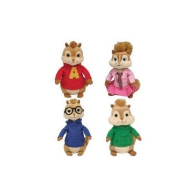 Ty Beanie Babies SET OF 4 ALVIN & THE CHIPMUNKS [Misc.]