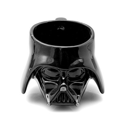 Star Wars Mug - Darth Vader Helmet 3D Ceramic Coffee and Drink Mug with Removable Lid - 20 oz