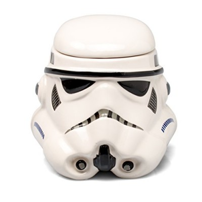 Star Wars Mug - Stormtrooper Helmet 3D Ceramic Coffee and Drink Mug with Removable Lid - 20-oz