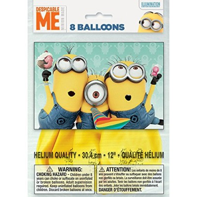 "12"" Latex Despicable Me Balloons, 8ct"