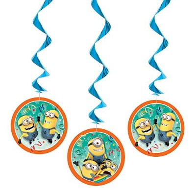 "26"" Hanging Despicable Me Decorations, 3ct"
