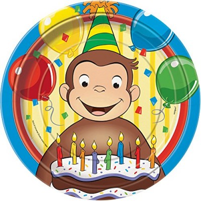 Curious George Dinner Plates, 8ct