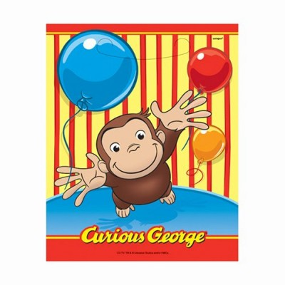Curious George Favor Bags, 8ct