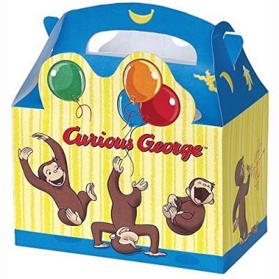 Curious George Favor Boxes, 4ct