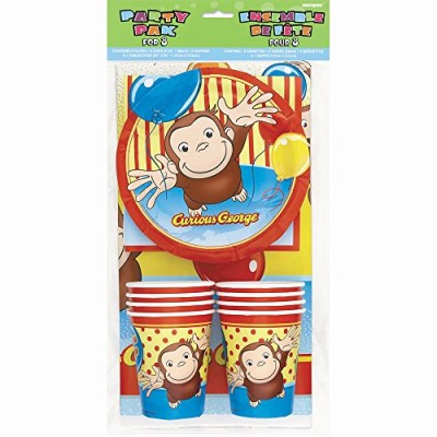 Curious George Party Pack for 8