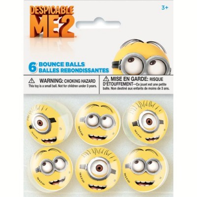 Despicable Me Bouncy Balls, 6ct