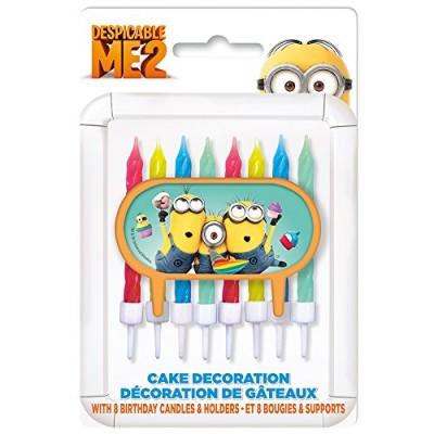 Despicable Me Cake Topper & Birthday Candle Set