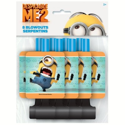 Despicable Me Party Blowers, 8ct