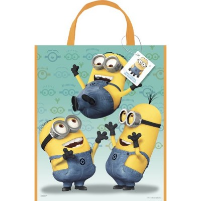 "Large Plastic Despicable Me Favor Bag, 13"" x 11"""