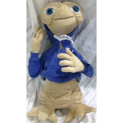 "Et Extra-terrestrial 15"" Plush Doll Toy in Blue Hooded Jacket"