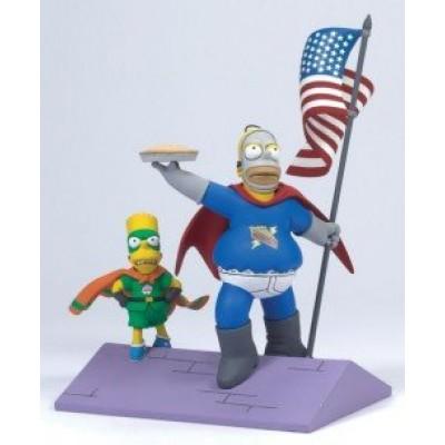 "Homer & Bart ""Simple Simpson"" McFarlane The Simpsons Series 1 Action Figure"