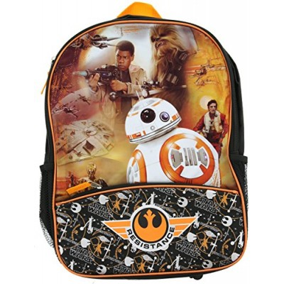 "Star Wars 16"" Backpack Resistance The Force Awakens Episode 7 BB8 Chewbacca"
