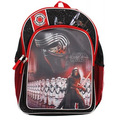 Star Wars Episode 7 The Force Awakens Backpack - Features Kylo Ren and Stormtroopers