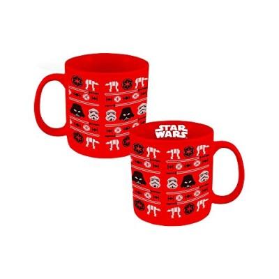 Vandor 99662 Star Wars Ugly Sweater Holiday Ceramic Mug, 20 oz, Red