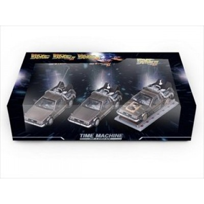 "Delorean DMC 12 "" Back to the Future"" Movie 1,2,3 set 1/43 by Vitesse 24016"