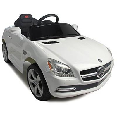 Vroom Rider Mercedes-Benz SLK Rastar 6V Battery Operated/Remote Controlled Ride-On, White