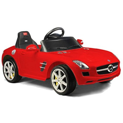 Vroom Rider Mercedes-Benz SLS AMG Rastar 6V Battery Operated/Remote Controlled Ride-On, Red