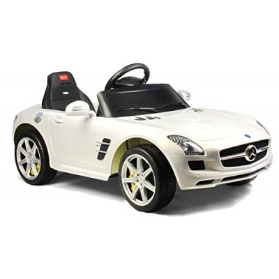 Vroom Rider Mercedes-Benz SLS AMG Rastar 6V Battery Operated/Remote Controlled Ride-On, White
