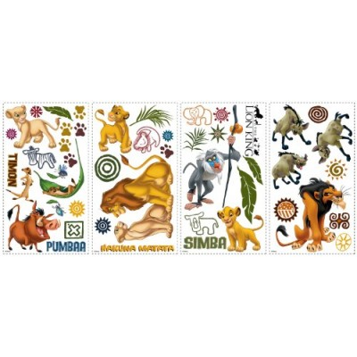 "Disney ""The Lion King"" Wall Decal Cutouts 18""x40"""