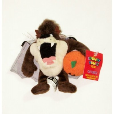 "A Looney Tunes Year: 6"" Trick or Treat Taz Mini Bean Bag (October 2000)"