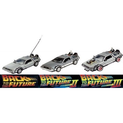 Back To The Future Delorean Set, Part 1, 2, and 3