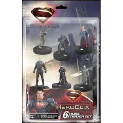 NECA Man of Steel HeroClix 6 Figure Starter Set