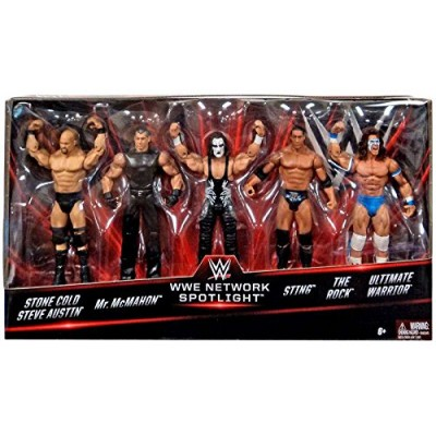 WWE Basic Series, WWE Network Spotlight Exclusive 5-Pack [Stone Cold, Mr. McMahon, Sting, The Rock, and Ultimate Warrior]